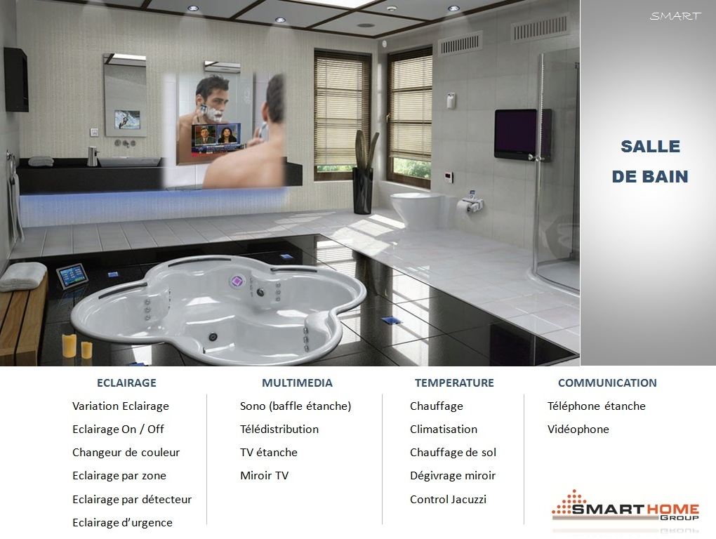 Smart bus home automation technology french catalogues for Salle de bain in french