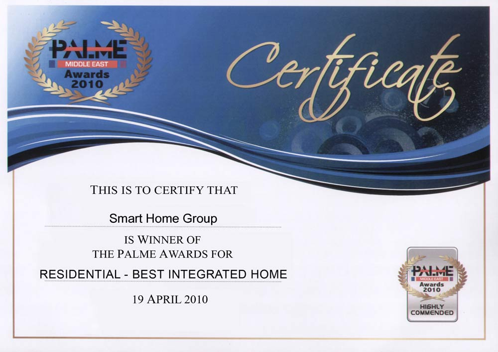Smart-Bus Home Automation Technology - Certifications
