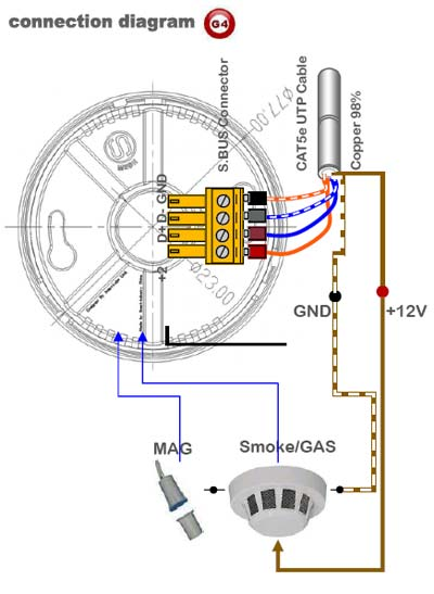 connection diagram 6 in 1 multifunction sensor (g4) sb 6in1t cl esp smoke detector wiring diagram at bakdesigns.co