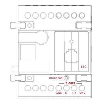Smart-Bus Security/Safety Monitoring Module (G4) - SB-SEC250K-DN - GTIN(UPC-EAN): 0610696254047