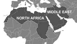 Middle East And Africa Map.Smart Bus Home Automation Technology Middle East And North Africa