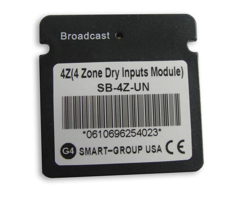 Smart bus 4 zone dry input module g4 sb 4z un for Door zone module